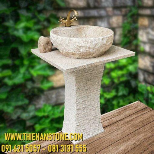 Trụ Lavabo Granite Vàng