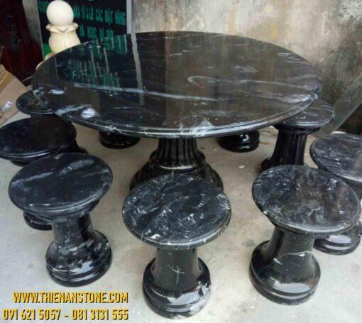 Bộ bàn ghế đá cẩm thạch lớn