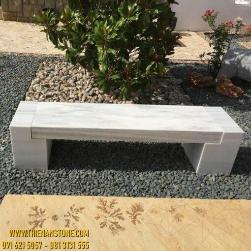 Bàn ghế đá cẩm thạch trắng